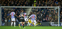 LONDON, ENGLAND - Sunday, December 30, 2012: Liverpool's Luis Alberto Suarez Diaz scores the first goal against Queens Park Rangers during the Premiership match at Loftus Road. (Pic by David Rawcliffe/Propaganda)
