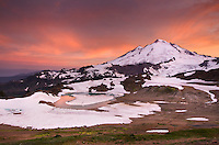 Alpenglow over Mount Baker, 10,781 ft (3,286 m), Mount Baker Wilderness Washington