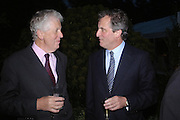 Lord Powell and Viscount Astor. Cartier dinner after thecharity preview of the Chelsea Flower show. Chelsea Physic Garden. 23 May 2005. ONE TIME USE ONLY - DO NOT ARCHIVE  © Copyright Photograph by Dafydd Jones 66 Stockwell Park Rd. London SW9 0DA Tel 020 7733 0108 www.dafjones.com