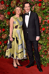 © Licensed to London News Pictures. 18/11/2018. London, UK. Frances Osborne and George Osborne attend the 64th Evening Standard Theatre Awards held at the Theatre Royal, Dury Lane. Photo credit: Ray Tang/LNP