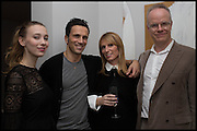 ANNA KOORIS; ANDREAS SIEGFRIED; JANE SUITOR; HANS ULRICH OBRIST, James Franco exhibition 'Fat Squirrel' at Siegfried Contemporary, Basset Rd, London W10. 23 November 2014.