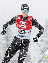 31.01.2016, Casino Arena, Seefeld, AUT, FIS Weltcup Nordische Kombination, Seefeld Triple, Langlauf, im Bild Tim Hug (SUI) // Tim Hug of Switzerland competes during 15km Cross Country Gundersen Race of the FIS Nordic Combined World Cup Seefeld Triple at the Casino Arena in Seefeld, Austria on 2016/01/31. EXPA Pictures © 2016, PhotoCredit: EXPA/ JFK