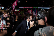 Paris march 2017 - Meeting Bercy Arena. Benoît Hamon is a French politician and a member of the Socialist Party (PS). He became the PS candidate for the 2017 French presidential election after defeating Manuel Valls in the second round of the party primary on 29 January 2017.