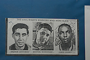 Wanted poster for the Freedom Summer civil rights workers who were murdered. Michael Schwerner, James Chaney, and Andrew Goodman. Photo©Suzi Altman