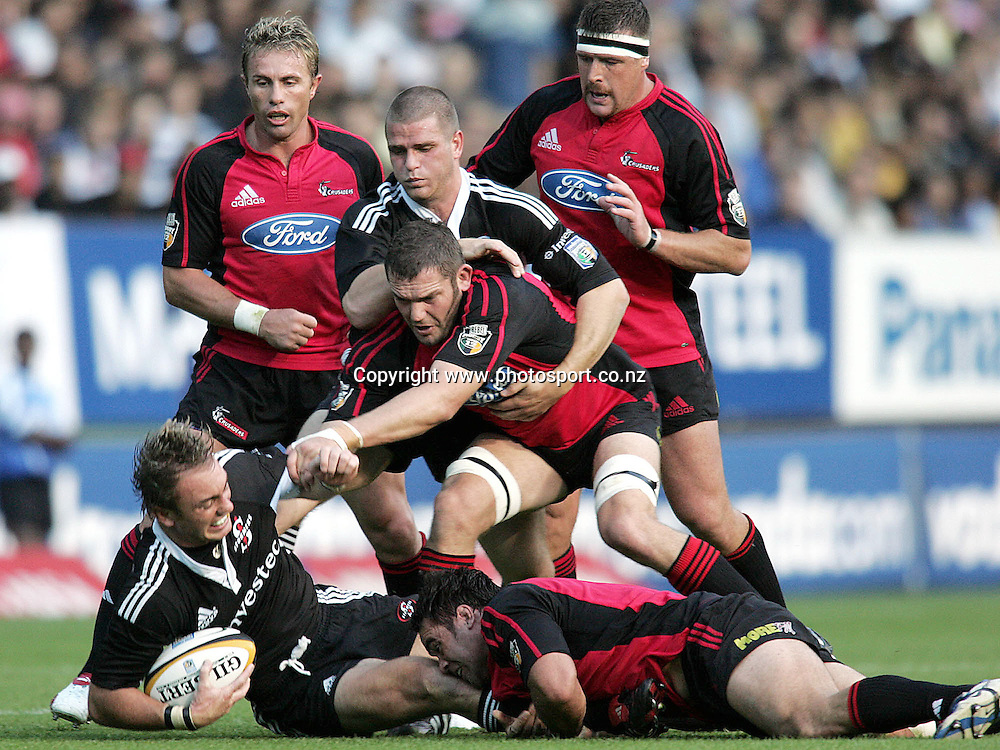 Stormers vs Crusaders in a Super 12 rugby game at Newlands , The Stormer player with is Marius Joubert