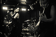 Sirenia headline at the Femme Metal Music Festival in London. Lead singer and lead guitarist