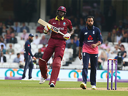 September 27, 2017 - London, England, United Kingdom - Jason Holder of West Indies .during One Day International Series match between England and West Indies at The Kia Oval, London  on 27 Sept , 2017  (Credit Image: © Kieran Galvin/NurPhoto via ZUMA Press)