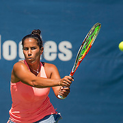 August 22, 2016, New Haven, Connecticut: <br /> Sanaz Marand in action during the US Open National Playoffs women's singles finals match on Day 4 of the 2016 Connecticut Open at the Yale University Tennis Center on Monday August  22, 2016 in New Haven, Connecticut. <br /> (Photo by Billie Weiss/Connecticut Open)