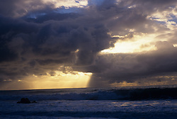 Storm clouds during a sunset over the Atlantic Ocean in East Hampton, NY