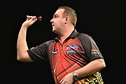 Kim Huybrechts during the Betway Premier League Darts at the Manchester Arena, Manchester, United Kingdom on 23 March 2017. Photo by Mark Pollitt.