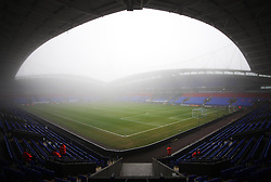 General view of the fog at the Macron Stadium before the match - Mandatory by-line: Jack Phillips/JMP - 07/01/2017 - FOOTBALL - Macron Stadium - Bolton, England - Bolton Wanderers v Crystal Palace - FA Cup Third Round