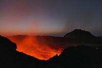 Erta Ale Volcano  Lava Lake  Danakil depression  Rift Valley  Ethiopia