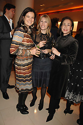 Left to right, KATE SLESINGER, SAM CORSELLIS and DEBORAH BENNETT at a reception to launch the 2007 Louis Vuitton Christmas windows in collaboration with Central Saint Martins College of Art & Design held at 17-18 New Bond Street, London W1 on 7th November 2007.<br />