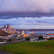 Seattle from Ella Bailey City Park, Magnolia, Seattle, Washington