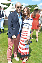 Carlo Carello and his wife Alex at Cartier Queen's Cup Polo, Guard's Polo Club, Berkshire, England. 18 June 2017.