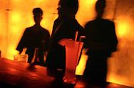 The bar at Club 9 in Bandra West, Mumbai, India