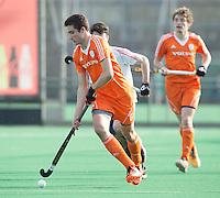 ROTTERDAM -  Jonas de Geus (Neth). with Evan Kimber.   Test Match Hockey : Netherlands Boys U18  v England U18 . COPYRIGHT KOEN SUYK