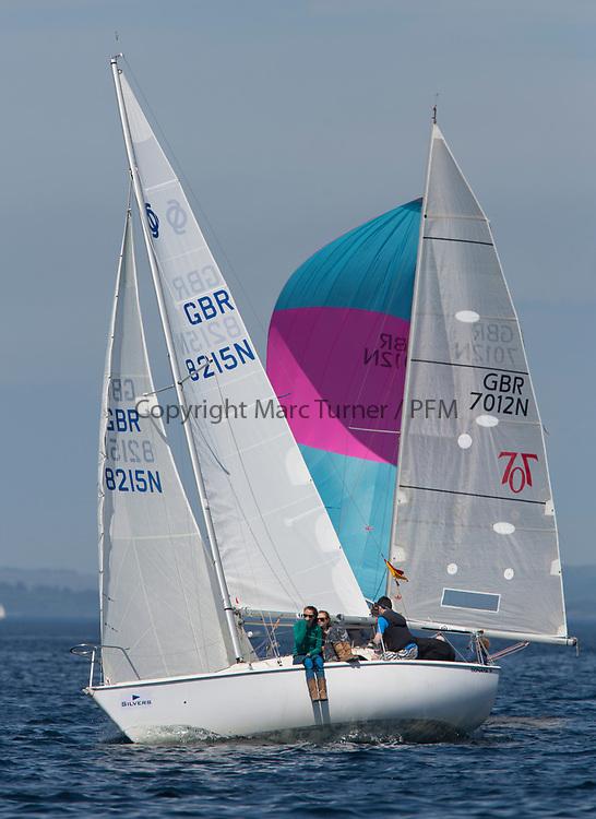 Silvers Marine Scottish Series 2017<br /> Tarbert Loch Fyne - Sailing<br /> <br /> GBR8215N, Red Hot Poker, Douglas Guthrie, Helensburgh SC, Sonata OD