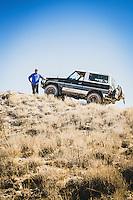 Kurt Williams of Sandy, Utah, 1988 Toyota Landcruiser BJ74 (Japanese rightside steering), Eureka, Utah. Part of a overland group who traveled dirt roads from Green River to Salt Lake City for Cruiser Fest 16.
