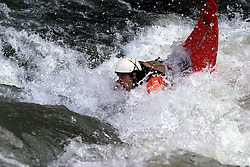 SPAIN ARAGON HUESCA 25AUG05 - A Spanish wild water kayak braves the rapids in a mountain stream. ..jre/Photo by Jiri Rezac..© Jiri Rezac 2005..Contact: +44 (0) 7050 110 417.Mobile:  +44 (0) 7801 337 683.Office:  +44 (0) 20 8968 9635..Email:   jiri@jirirezac.com.Web:     www.jirirezac.com..© All images Jiri Rezac 2005 - All rights reserved.