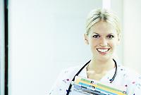 Portrait of a young female nurse.