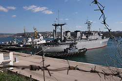 Naval ships Ternopil in Sevastopol bay Ukraine , Thursday, 13th March 2014. Picture by Daniel Leal-Olivas / i-Images