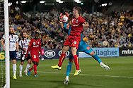 GOSFORD, AUSTRALIA - OCTOBER 02: Adelaide United goalkeeper Daniel Margush (1) saves a goal during the FFA Cup Semi-final football match between Central Coast Mariners and Adelaide United on October 02, 2019 at Central Coast Stadium in Gosford, Australia. (Photo by Speed Media/Icon Sportswire)