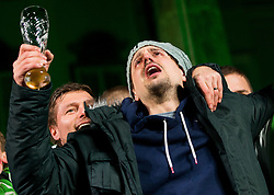 Matevz Skok crying during reception of Slovenian National Handball Men team after they placed third at IHF World Handball Championship France 2017, on January 30, 2017 in Mestni trg, Ljubljana centre, Slovenia. Photo by Vid Ponikvar / Sportida
