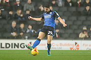 Swindon Town defender Raphael Rossi Branco (29) looks to release the ball during the EFL Sky Bet League 1 match between Milton Keynes Dons and Swindon Town at stadium:mk, Milton Keynes, England on 30 December 2016. Photo by Dennis Goodwin.