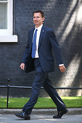 © Licensed to London News Pictures. 13/06/2017. London, UK. Jeremy Hunt arrives at Downing Street for the second cabinet meeting in two days ahead of todays visit by DUP leader Arlene Foster. Photo credit: Andrew McCaren/LNP