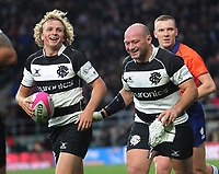 Rugby Union - 2019 Killick Cup - Barbarians vs. Fiji<br /> <br /> Joe Powell with Captain, Rory Best of the Barbarians, at Twickenham.<br /> <br /> COLORSPORT/ANDREW COWIE