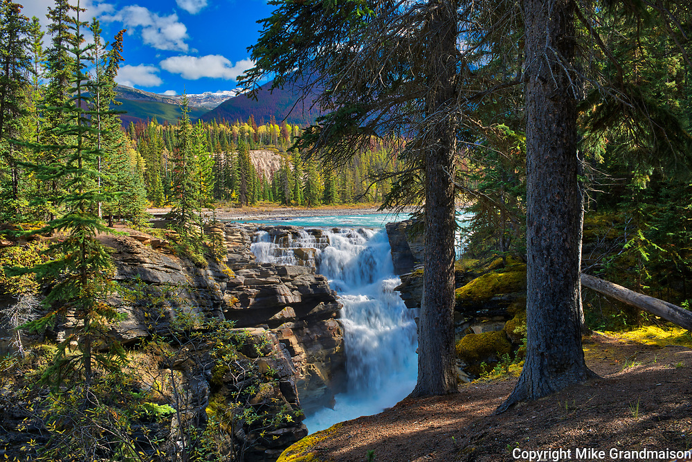 Athabasca  River at Athabasca Falls. Canadian Rocky Mountains<br />Jasper National Park<br />Alberta<br />Canada
