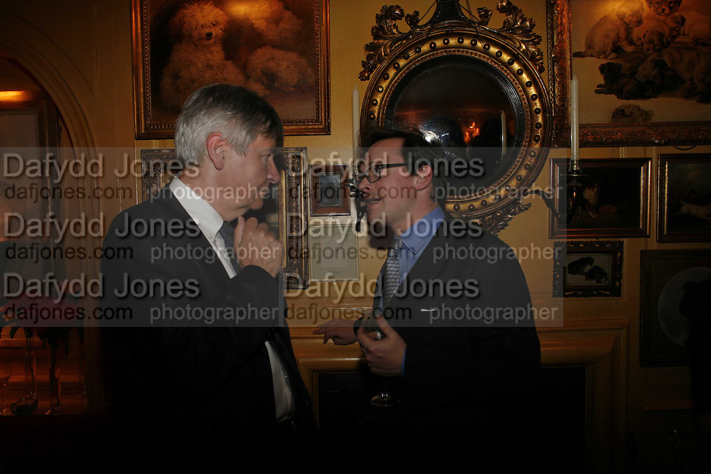 Piers Paul Read and Ranald Dunluce, Plum Sykes, book launch party, Annabel's, Berkeley Square, London, W1,10 May 2006.  Matthew Williamson, Catherine Vautrin, Laudomia Pucci host party to celebrate 'The Debutante Divorcee'. ONE TIME USE ONLY - DO NOT ARCHIVE  © Copyright Photograph by Dafydd Jones 66 Stockwell Park Rd. London SW9 0DA Tel 020 7733 0108 www.dafjones.com