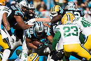 December 17, 2017: Carolina Panthers vs the Greenbay Packers. Jonathan Stewart