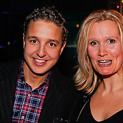 NLD/Amsterdam/20110124 - Uitreiking Beeld en Geluid awards 2010, Ajouad El Miloudi en .............