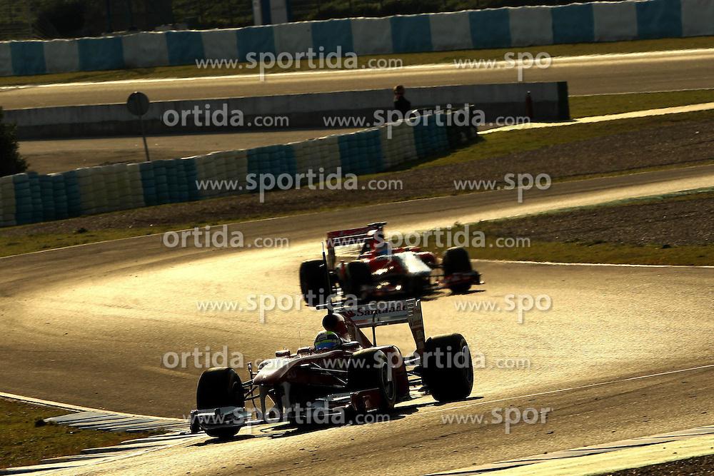 11.02.2011, Street Circuit. Jerez, ESP, Formel 1 Test 2 Valencia 2011,  im Bild Felipe Massa (BRA), Scuderia Ferrari EXPA Pictures © 2011, PhotoCredit: EXPA/ nph/   poleposition.at        +++++ only AUT and SLO