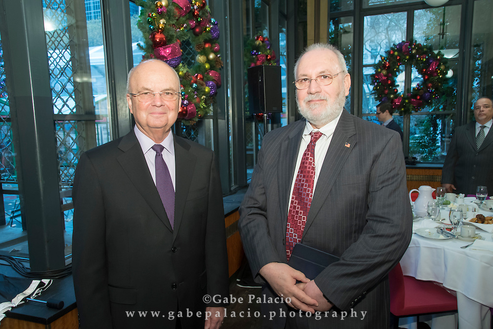 The Wall Street Journal The Future Of: Cyber Security featuring General Michael V. Hayden, Principle, The Chertoff Group, and Matt Murray, Deputy Editor in Chief of The Wall Street Journal in New York City on December 7, 2016. (photo by Gabe Palacio)