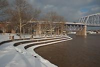 Serpentine Wall Downtown Cincinnati Winter