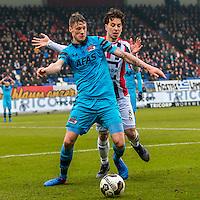 TILBURG - 19-02-2017, Willem II - AZ, Koning Willem II Stadion, 1-1, AZ speler Wout Weghorst, Willem II speler Thom Haye