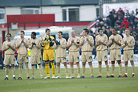 Photo: Aidan Ellis.<br /> Doncaster Rovers v Bristol City. Coca Cola League 1.<br /> 26/11/2005.<br /> Bristol players observe a minutes applause for George Best