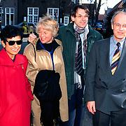 Mattheus Passion 1996 in Naarden, Jo Ritzen met vrouw Hanneke en Gerrit Zalm en vrouw Lydia Brouwer - van Gonzenbach