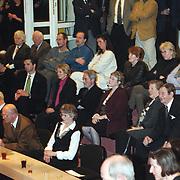 Nieuwjaarsreceptie 2000 gemeente Huizen, mensen op de publieke tribune