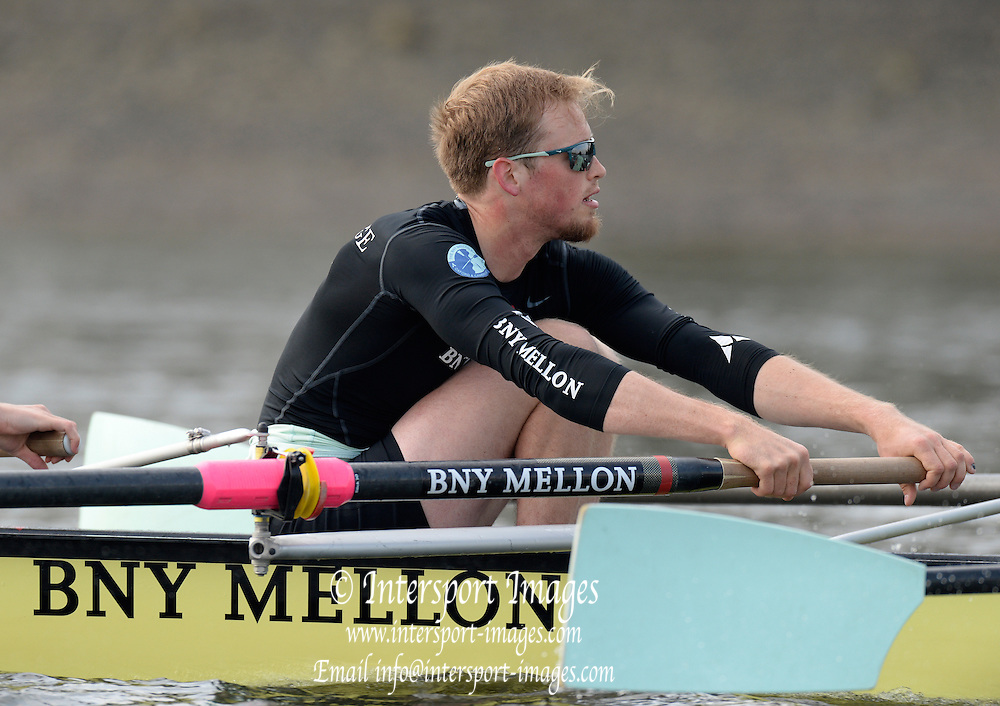London, United Kingdom.  Luke JUCKETT,  Cambridge, morning training session during the 2014, Varsity, Tideway Week, annual training week, both crews based at Putney, Championship Course,  River Thames;   10:00:54 - Wednesday  - 02/04/2014  [Mandatory Credit; Peter Spurrier/Intersport Images]. 160th Boat Race