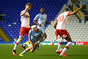 Callum O'Hare of Coventry City (17) is fouled and takes a tumble during the EFL Sky Bet League 1 match between Coventry City and Rotherham United at the Trillion Trophy Stadium, Birmingham, England on 25 February 2020.