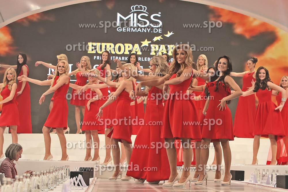 28.02.2015, Europapark Dom, Rust, GER, Miss Germany Wahl 2015, im Bild Die Teilnehmerinnen laufen auf // during the election to Miss Germany 2015 at the Europapark Dom in Rust, Germany on 2015/02/28. EXPA Pictures &copy; 2015, PhotoCredit: EXPA/ Eibner-Pressefoto/ BW-Foto<br /> <br /> *****ATTENTION - OUT of GER*****