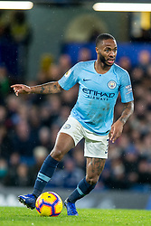 December 8, 2018 - London, Greater London, England - Raheem Sterling of Manchester City during the Premier League match between Chelsea and Manchester City at Stamford Bridge, London, England on 8 December 2018. (Credit Image: © AFP7 via ZUMA Wire)
