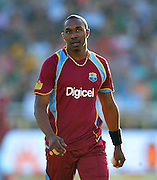 Dwayne Bravo of the West Indies during the 2015 KFC T20 International game between South Africa and the West Indies at Newlands Cricket Ground, Cape Town on 9 January 2015 ©Ryan Wilkisky/BackpagePix