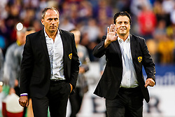 Darko Milanic head coach of NK Maribor and Zlatko Zahovic sport director of NK Maribor during match round 3 qualifications for UEFA Champions League between NK Maribor and FH Hafnarfjordur on 26th of July, 2017, Ljudski vrt, Maribor, Slovenia. Photo by Grega Valancic / Sportida