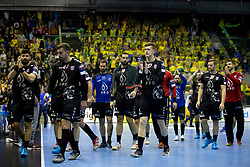 Players of HC PPD Zagreb during handball match between RK Celje Pivovarna Lasko (SLO) and HC PPD Zagreb (CRO) in Group phase of VELUX EHF Men's Champions League 2018/19, November 18, 2018 in Arena Zlatorog, Celje, Slovenia. Photo by Urban Urbanc / Sportida