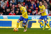 Leeds United midfielder Pablo Hernandez (19) in action  during the EFL Sky Bet Championship match between Nottingham Forest and Leeds United at the City Ground, Nottingham, England on 1 January 2019.